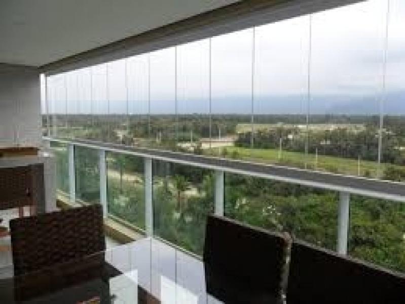 Fechamento de Sacada em Vidro Preços na Cidade Dutra - Fechamento Sacada Vidro